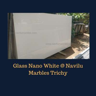 Glass Nano White Artificial Stone